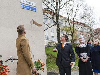Unveiling Holland straat,  OlandųGatvė in Vilnius    Photo © Ludo Segers
