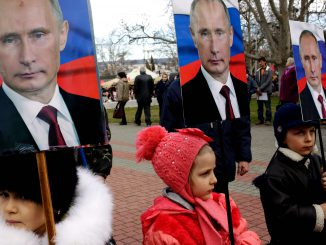 Putin and children in Russia