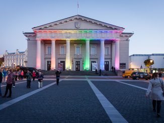 Rainbow days at the Vilnius City Hall