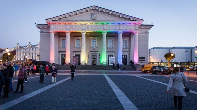 Rainbow days at the Vilnius City Hall