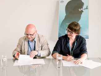 Director the Lithuanian Film Centre R. Kvietkauskas and Polish Film Institute director M. Sroka signed agreement on cooperation