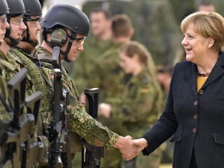 Chancellor A. Merkel and German troops