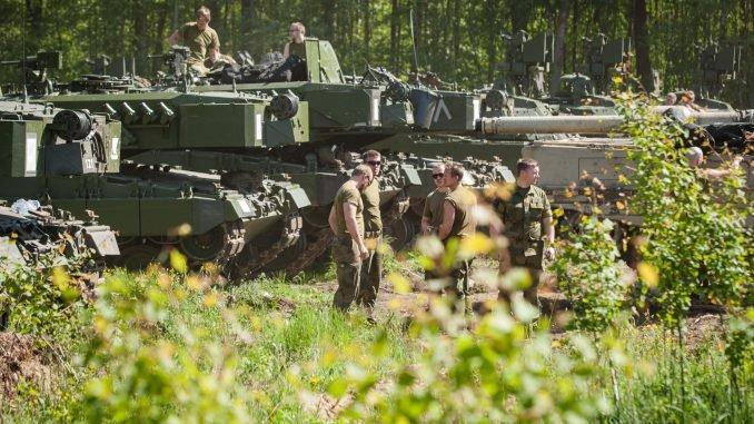 Norwegian Leopard II tanks in Lithuania