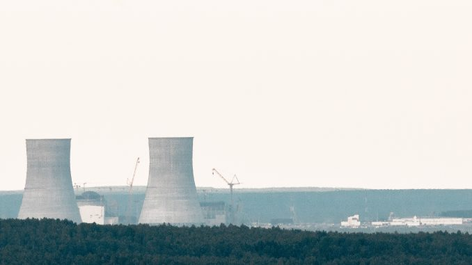 Belarus' Astravyets nuclear power plant under construction