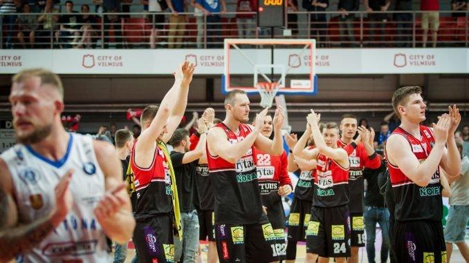 "BC ""Lietuvos rytas"" after winning bronze"
