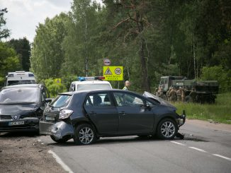 The collision on the Nemenčinė road at the village of Antaviliai
