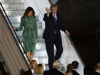 President D. Trump landed in Warsaw