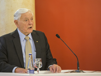 President Valdas Adamkus speaking at the First Valdas Adamkus Conference in Vilnius University  Photo © Ludo Segers  @ The Lithuania Tribune