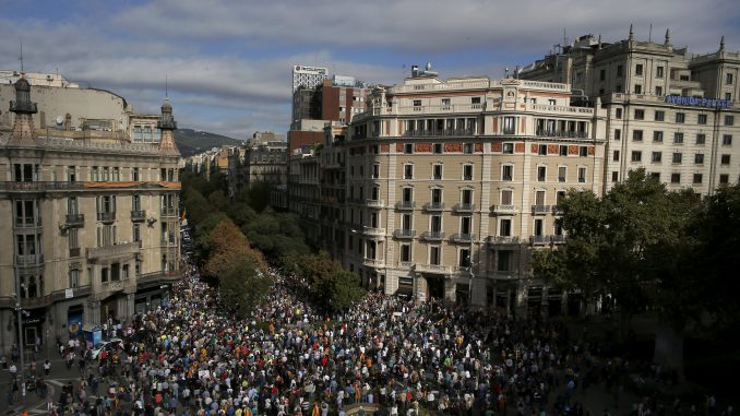 Pro Independence demo in Barcelona