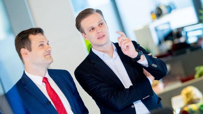 Gintautas Paluckas and Gabrielius Landsbergis