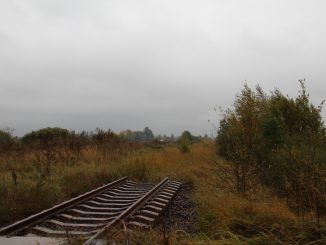 Demolished rails in Mažeikiai