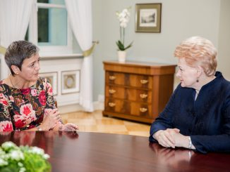 EU Competition Commissioner Margrethe Vestager met with President Grybauskaitė
