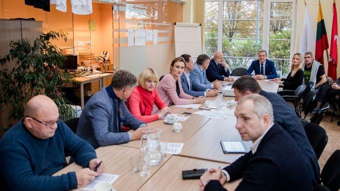 Liberal Movement board at a meeting