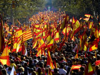 pro-Spanish unity protest in Catalonia