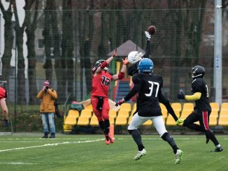 Kaunas Dukes intercept Photo by Stasys Razma