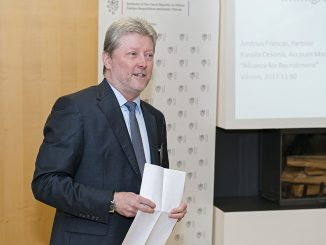 Ambassador of the Czech Republic to Lithuania, Bohumil introduces the speakers  at the EBN HR presentation Photo © Ludo Segers @ The Lithuania Tribune