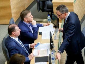 Saulius Skvernelis, Ramūnas Karbauskis, Vytautas Bakas