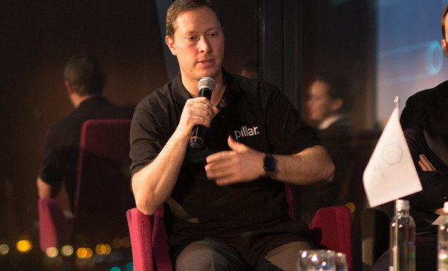 Tomer Sofinzon, Founder of the Pillar Project, at a panel discussion, by Mantas Bartaševičius