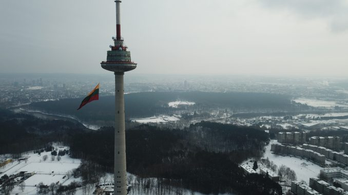 Tricolour raised on the TV Tower