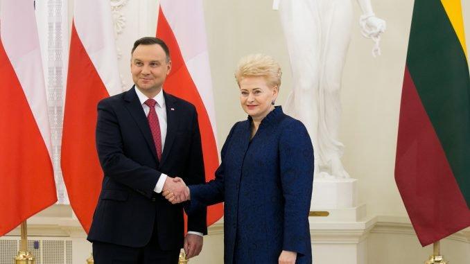 Andrzej Duda and Dalia Grybauskaitė
