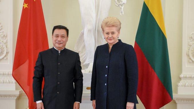 Shen Zhifei and Dalia Grybauskaitė