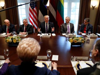 President Trump meets the presidents of the Baltic States in the White House
