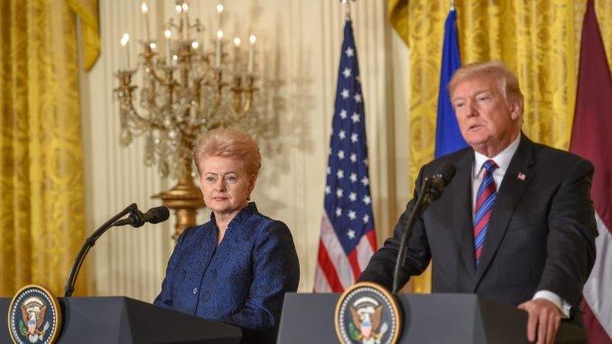 Dalia Grybauskaitė and Donald Trump