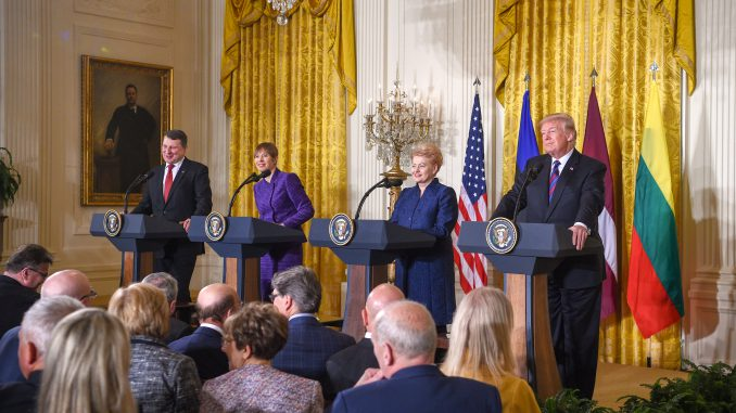 Baltic States' presidents and Donald Trump