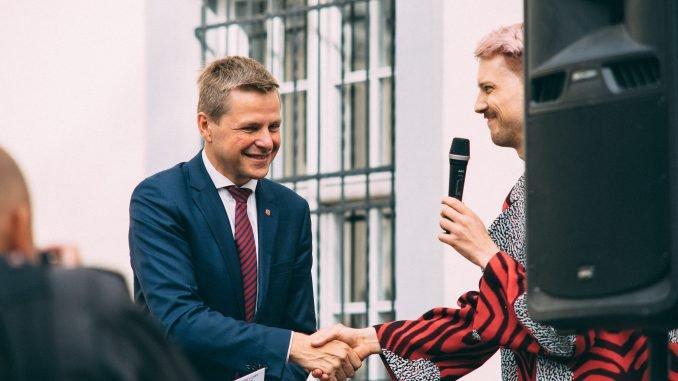 Vilnius City Mayor R. Šimašius and Friendly City founder Romas Zabarauskas. Photos @ Ignas Nefas