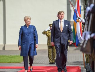 King Willem-Alexander and the President Grybauskaitė at the Presidential Palace. Photo @ Presidential Palace