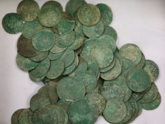 Trove of 500-year-old coins unearthed during street renovation in Kaunas