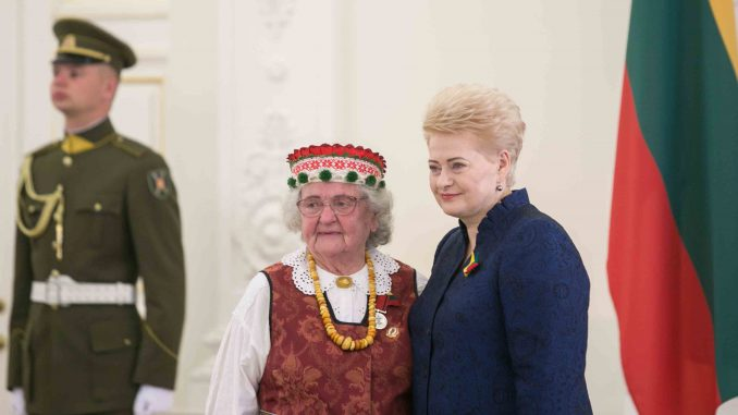 President Grybauskaitė presents state awards to Lithuanian and foreign nationals for their merits to Lithuania on 6 July