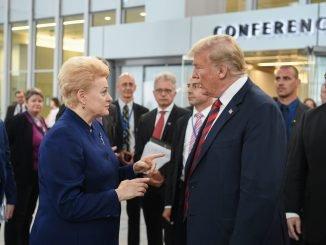 D. Grybauskaitė and D. Trump