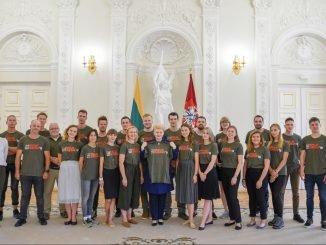 President Dalia Grybauskaitė meets the Mission Siberia 2018 team
