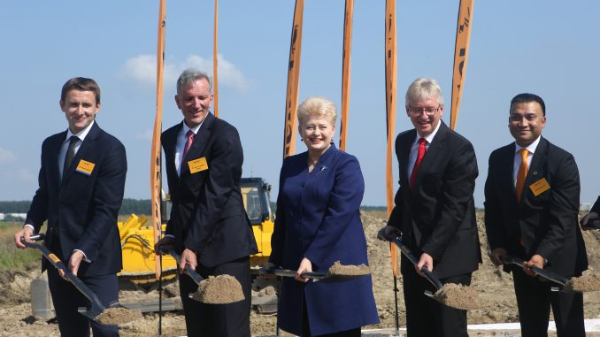 Continental factory construction begins