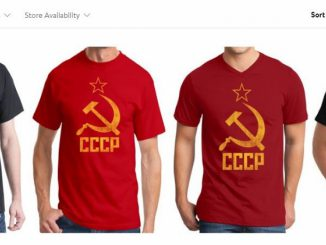 T-shirts with USSR symbols sold by Walmart
