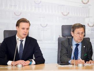 Gabrielius Landsbergis and Liudas Mažylis