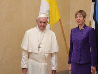 Pope Francis and Estonian President Kersti Kaljulaid