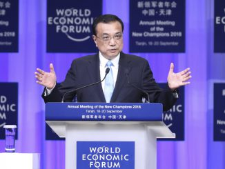Li Keqiang at at the Opening Ceremony of The Annual Meeting of the New Champions 2018