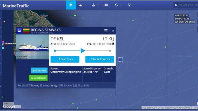 Regina Seaways route