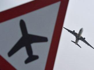 An airplane landing