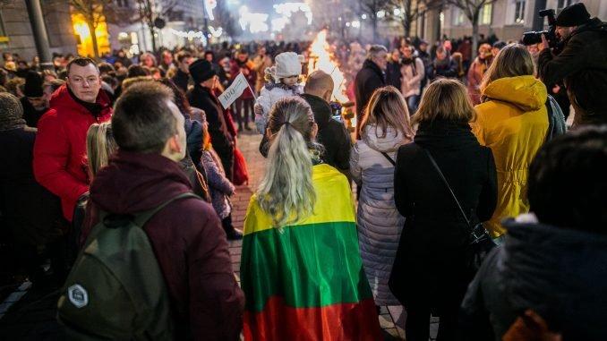 February 16 on Gediminas Av in Vilnius