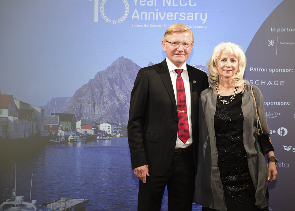 Ambassador Karsten Klepsvik and Mrs Heidi Klepsvik at the 10th Norwegian Lithuanian Chamber Gala Photo © Ludo Segers @ The Lithuania Tribune
