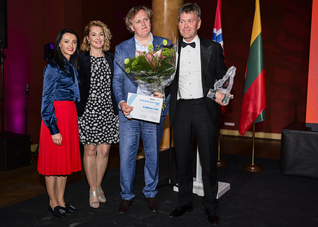 FLTR Lina Mockute, Vilma Bružienė, Kjetil Hanssen, and Bjørnar Lund at 10th Norwegian Lithuanian Chamber Gala Photo © Ludo Segers @ The Lithuania Tribune