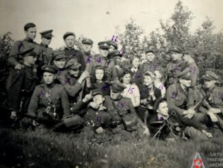 Partisans of the Žemaičiai and Kęstutis District. Photo courtesy of the Office of the Chief Archivist of Lithuania