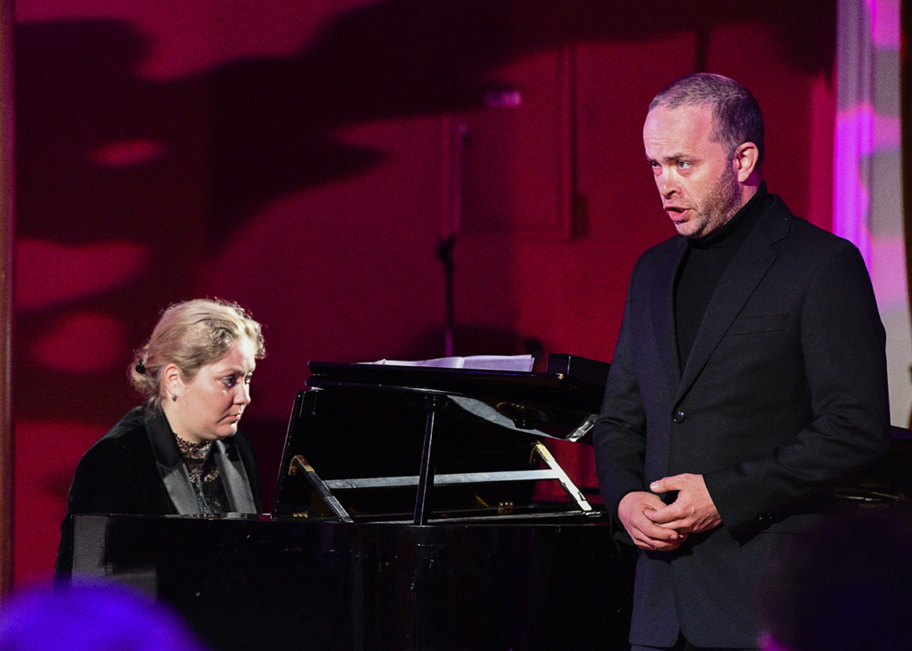 The Norwegian baritone Stein Skjervold and the pianist Dovile Bagdonaite! Photo © Ludo Segers @ The Lithuania Tribune