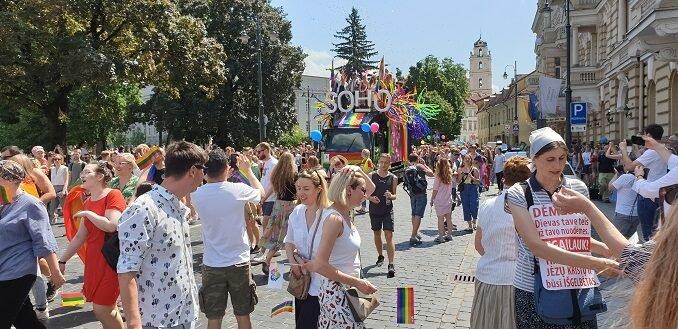 Baltic Pride In Vilnius. Photo Ruslanas Iržikevičius, the Lithuania Tribune