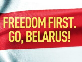 Freedom first. Go, Belarus!